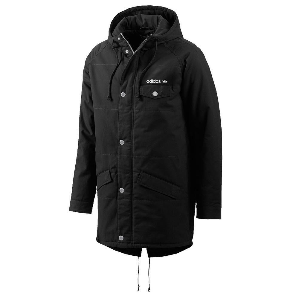 adidas originals padded fishtail herren parka jacke gef tterte winterjacke ebay. Black Bedroom Furniture Sets. Home Design Ideas