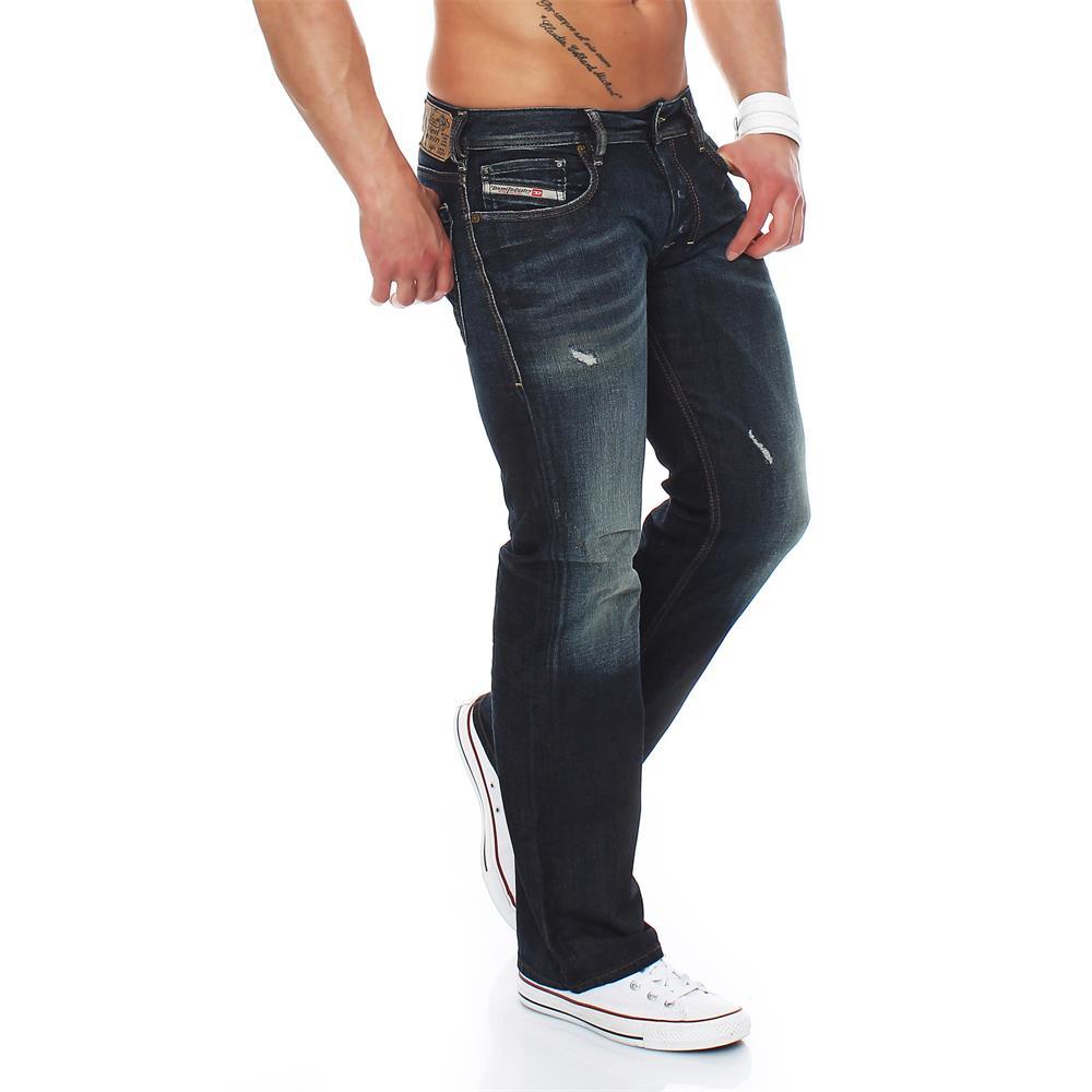 diesel zatiny jeans regular bootcut herrenjeans herren denim hose ebay. Black Bedroom Furniture Sets. Home Design Ideas