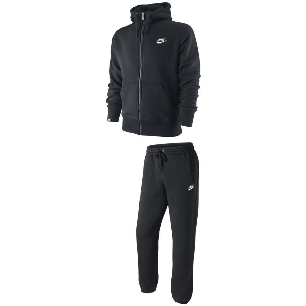 nike brushed zip fleece trainingsanzug sportanzug. Black Bedroom Furniture Sets. Home Design Ideas
