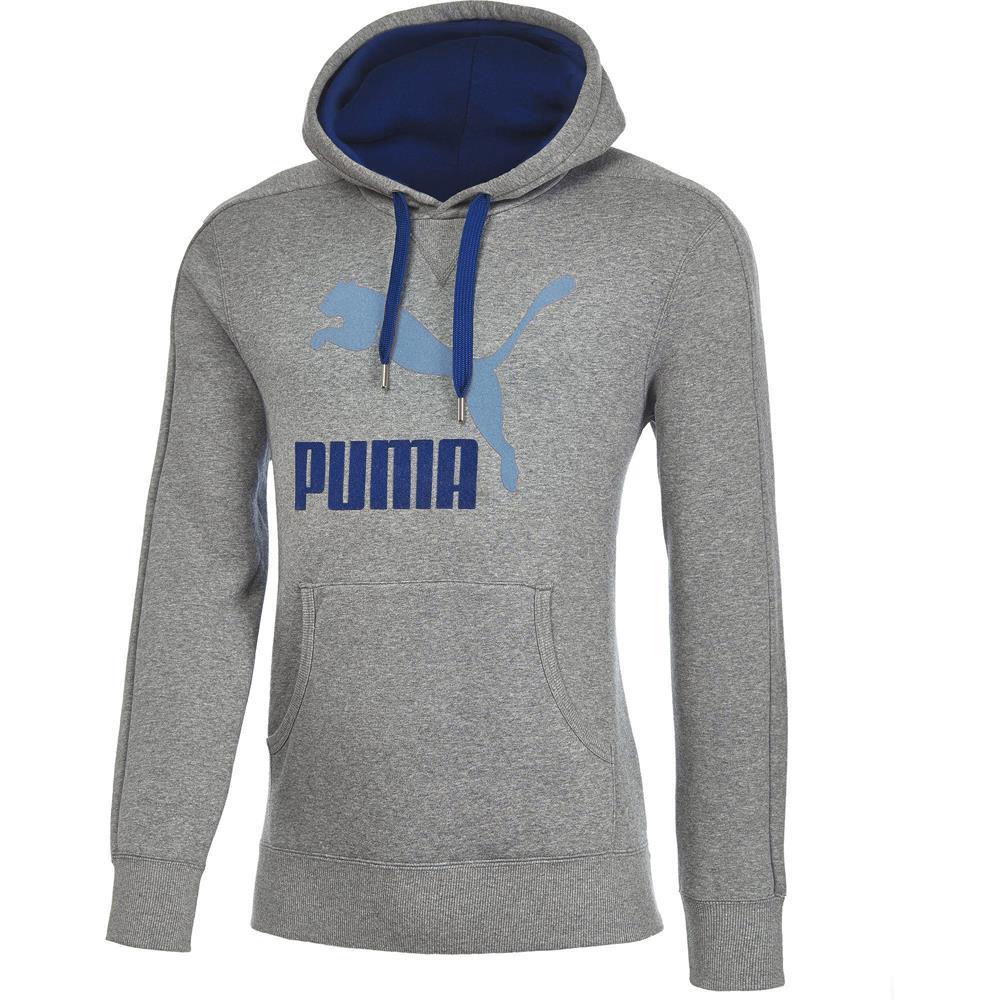 Puma-Logo-Hoody-Herren-Kapuzenpullover-Fleece-Sweatshirt-Hoodie-Pullover