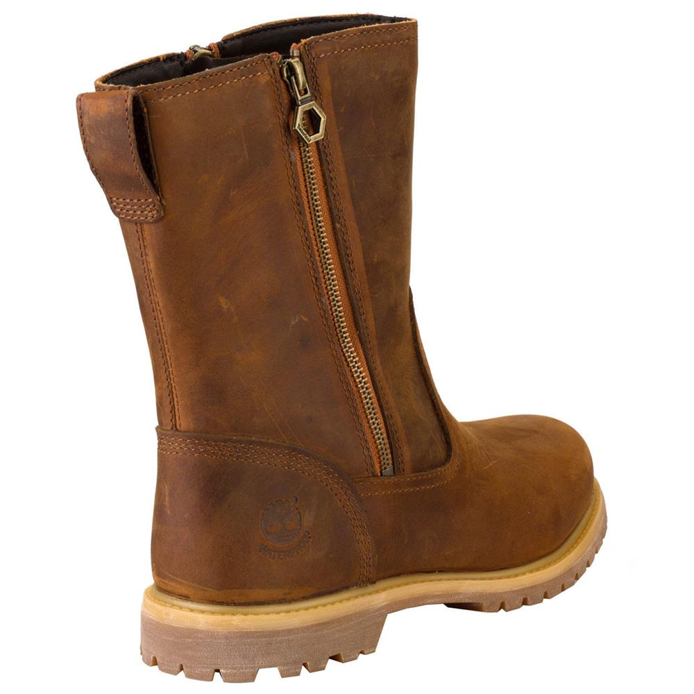 timberland ek nellie double zip leder boots damen