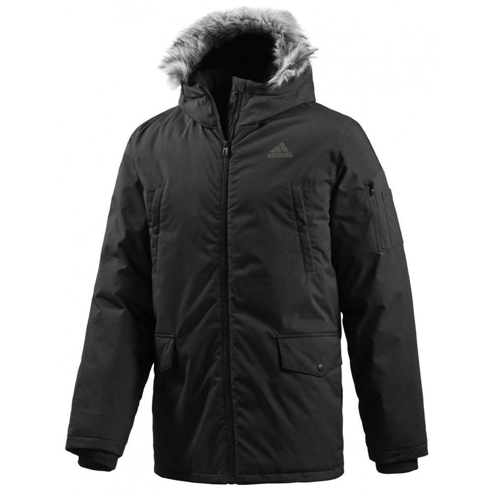 adidas sdp fur padded jacket mens padded winter jacket ebay. Black Bedroom Furniture Sets. Home Design Ideas
