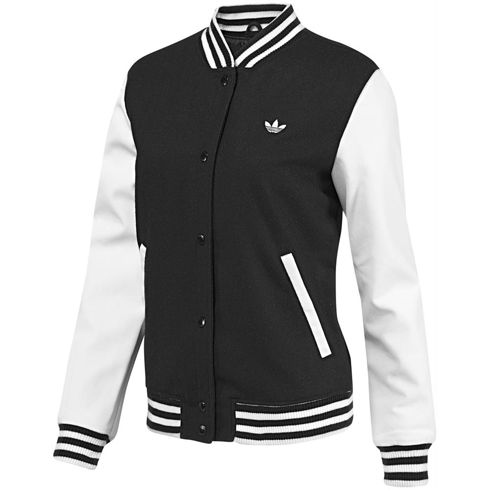 adidas originals style varsity jacket damen college jacke bergangsjacke. Black Bedroom Furniture Sets. Home Design Ideas