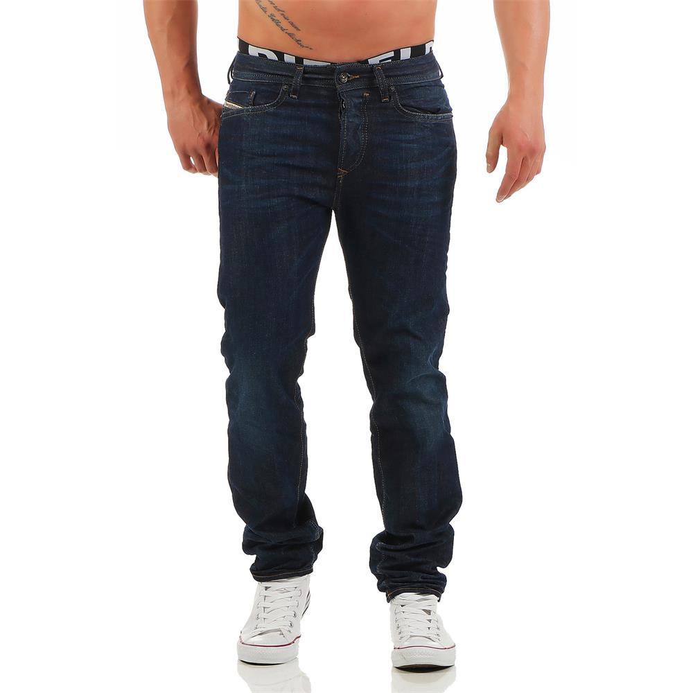 DIESEL Buster 0838E Jeans Jeans Jeans Regular Slim Taperot Herrenjeans Denim Hose 498fd9