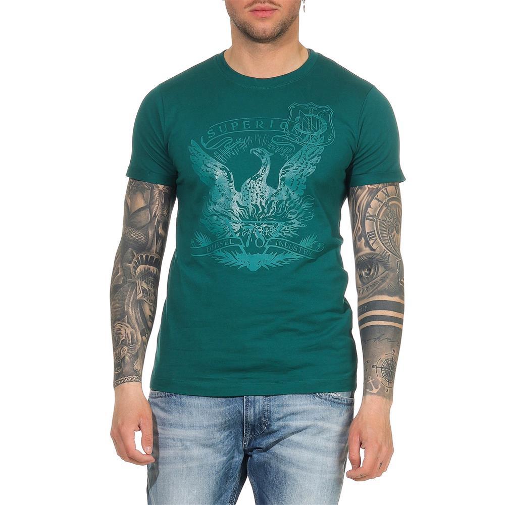 Indexbild 43 - DIESEL Herren T-Shirt Mohawk Slim Tee Rundhals Kurzarm Shirt