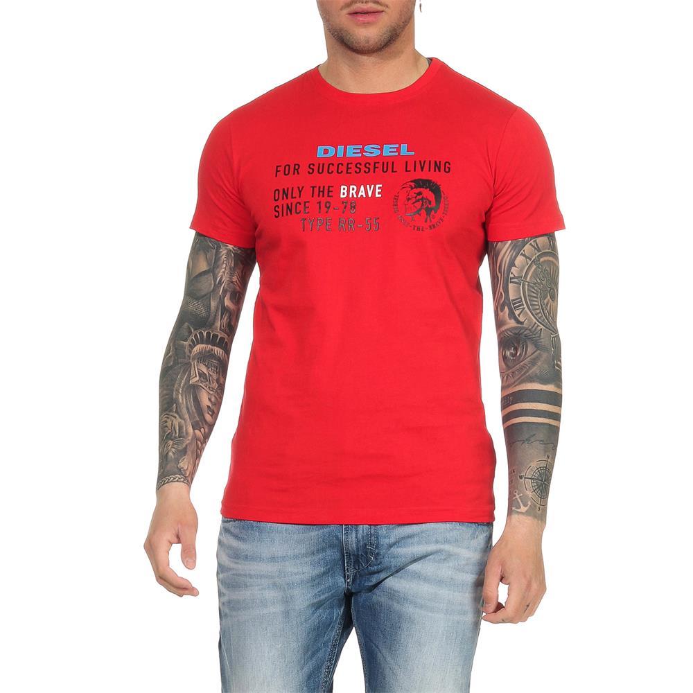 Indexbild 28 - DIESEL Herren T-Shirt Mohawk Slim Tee Rundhals Kurzarm Shirt