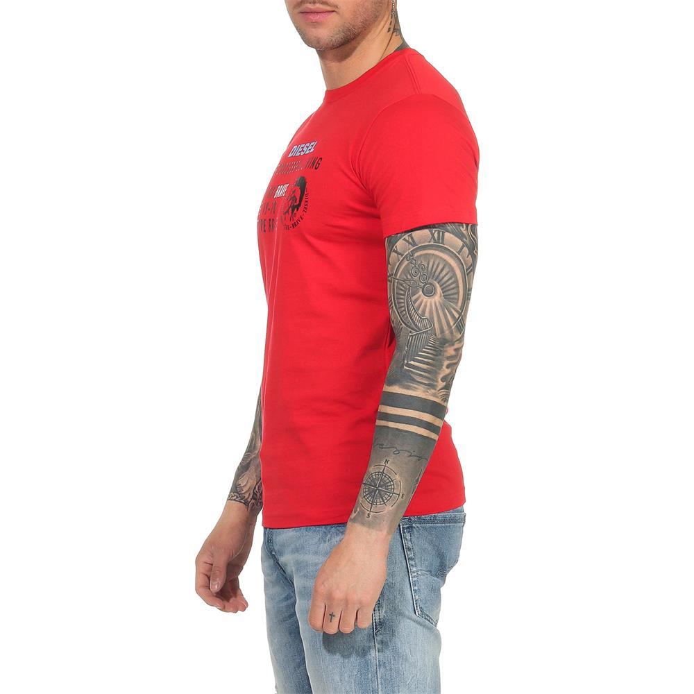 Indexbild 29 - DIESEL Herren T-Shirt Mohawk Slim Tee Rundhals Kurzarm Shirt