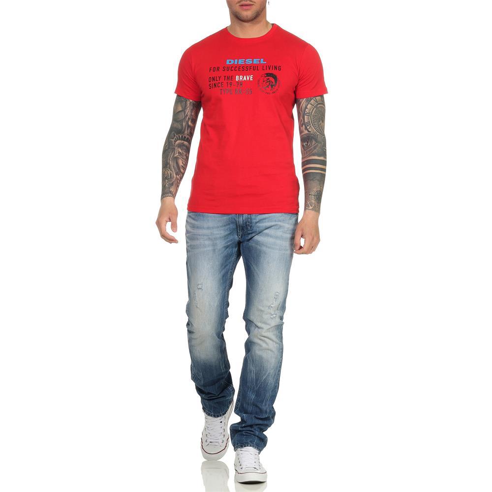Indexbild 31 - DIESEL Herren T-Shirt Mohawk Slim Tee Rundhals Kurzarm Shirt