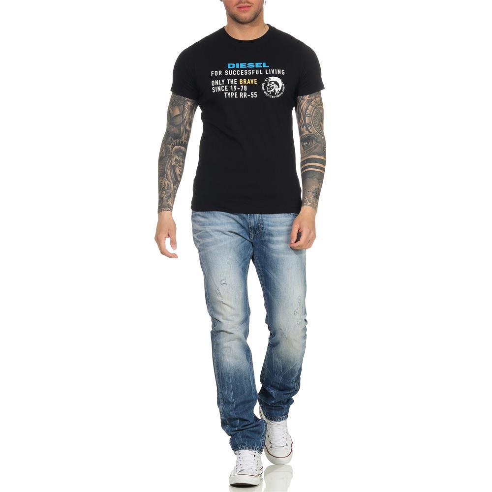 Indexbild 21 - DIESEL Herren T-Shirt Mohawk Slim Tee Rundhals Kurzarm Shirt