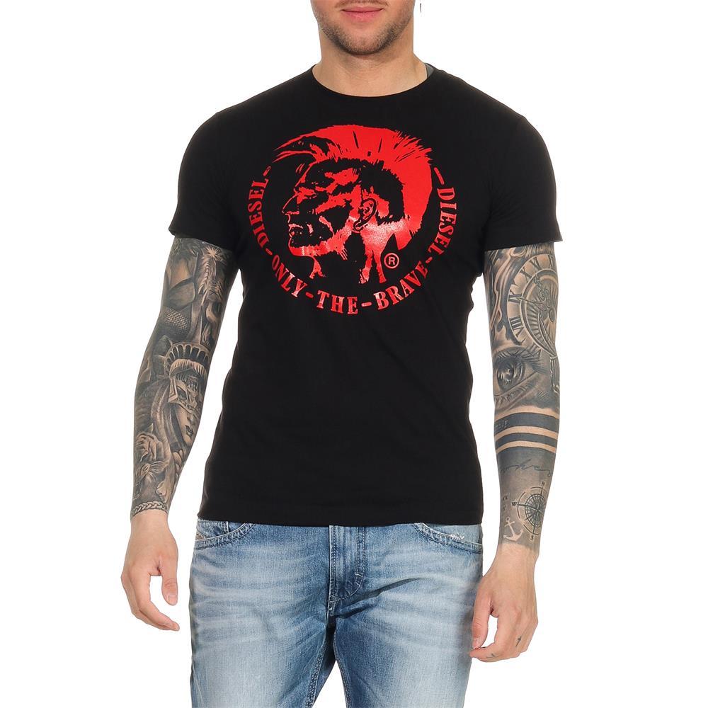 Indexbild 8 - DIESEL Herren T-Shirt Mohawk Slim Tee Rundhals Kurzarm Shirt