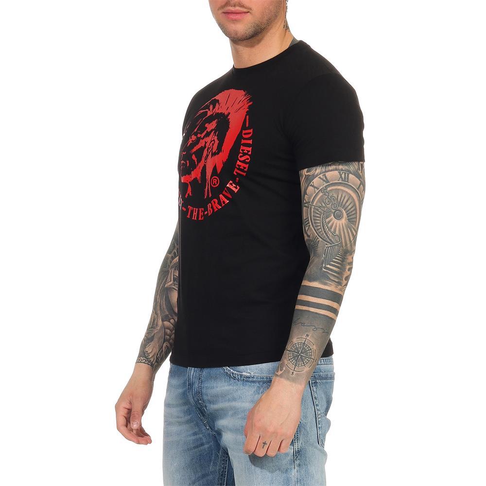 Indexbild 9 - DIESEL Herren T-Shirt Mohawk Slim Tee Rundhals Kurzarm Shirt