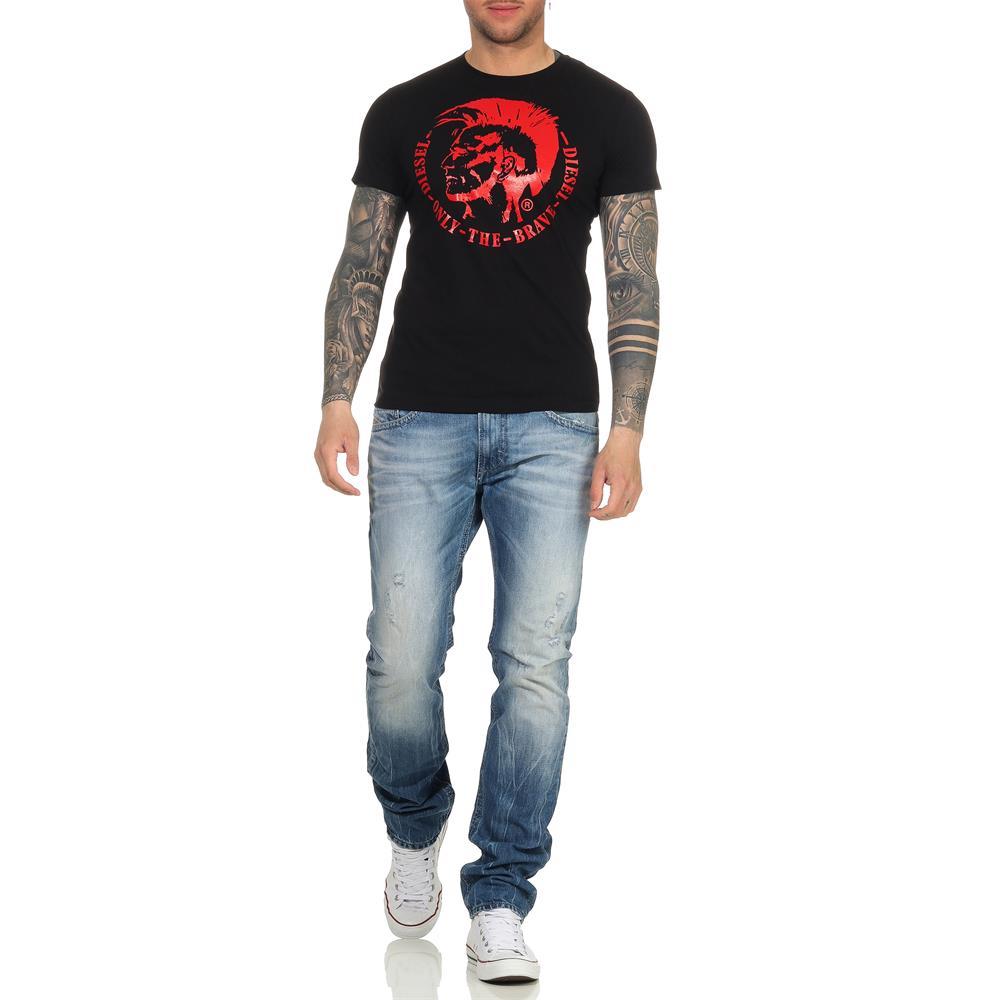 Indexbild 11 - DIESEL Herren T-Shirt Mohawk Slim Tee Rundhals Kurzarm Shirt
