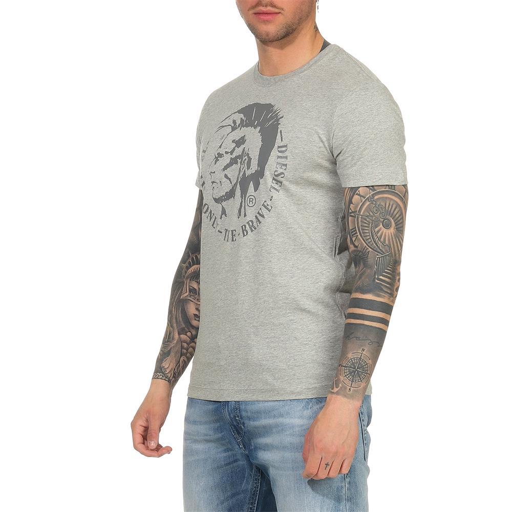 Indexbild 4 - DIESEL Herren T-Shirt Mohawk Slim Tee Rundhals Kurzarm Shirt