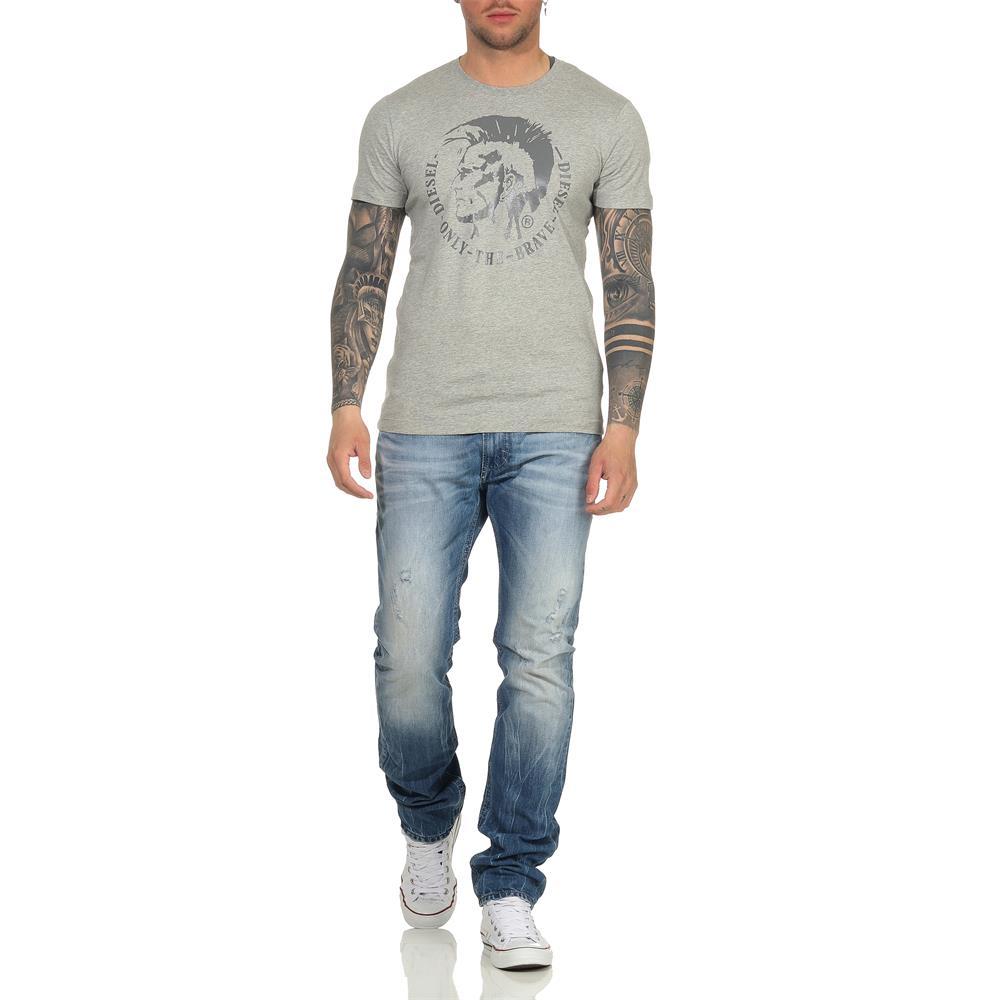 Indexbild 6 - DIESEL Herren T-Shirt Mohawk Slim Tee Rundhals Kurzarm Shirt