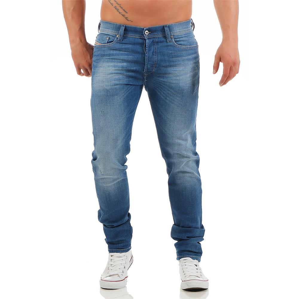 diesel tepphar 0850j jeans mens slim carrot jeans denim