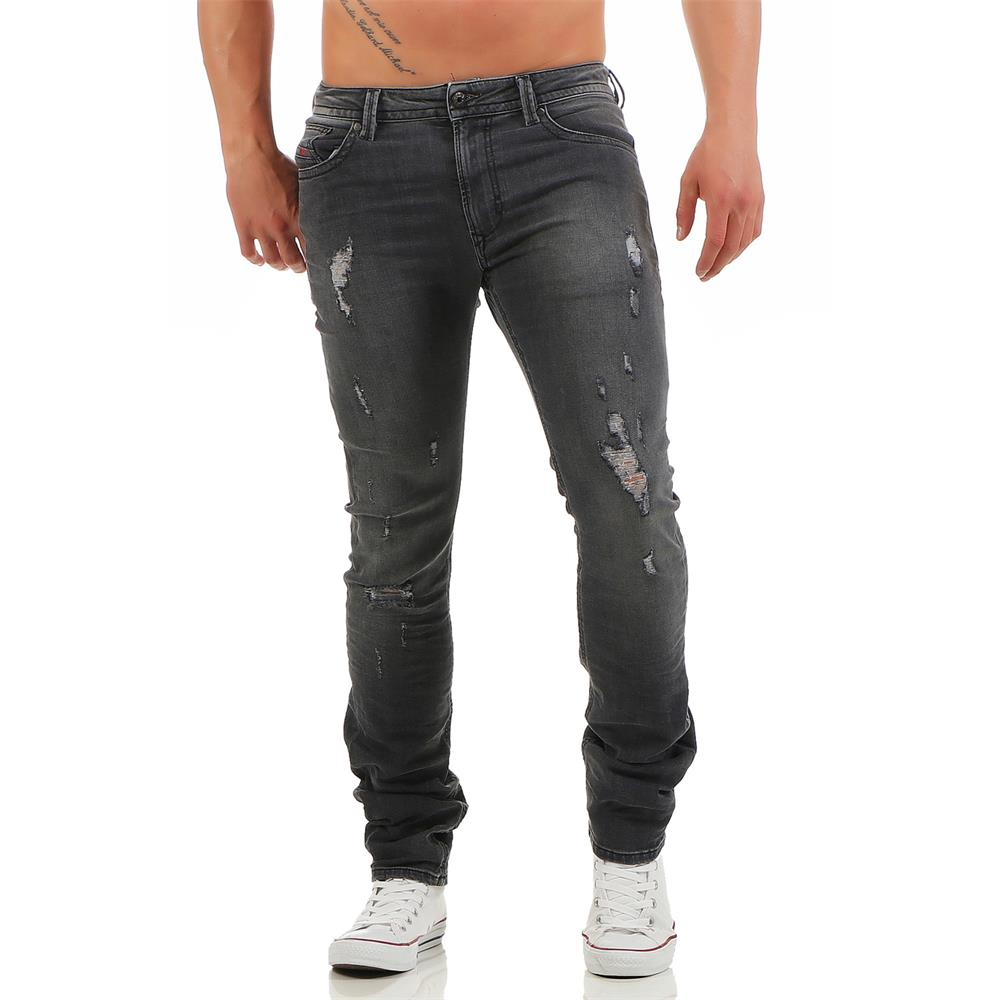 diesel thavar 0673p jeans herren slim skinny herrenjeans denim hose ebay. Black Bedroom Furniture Sets. Home Design Ideas