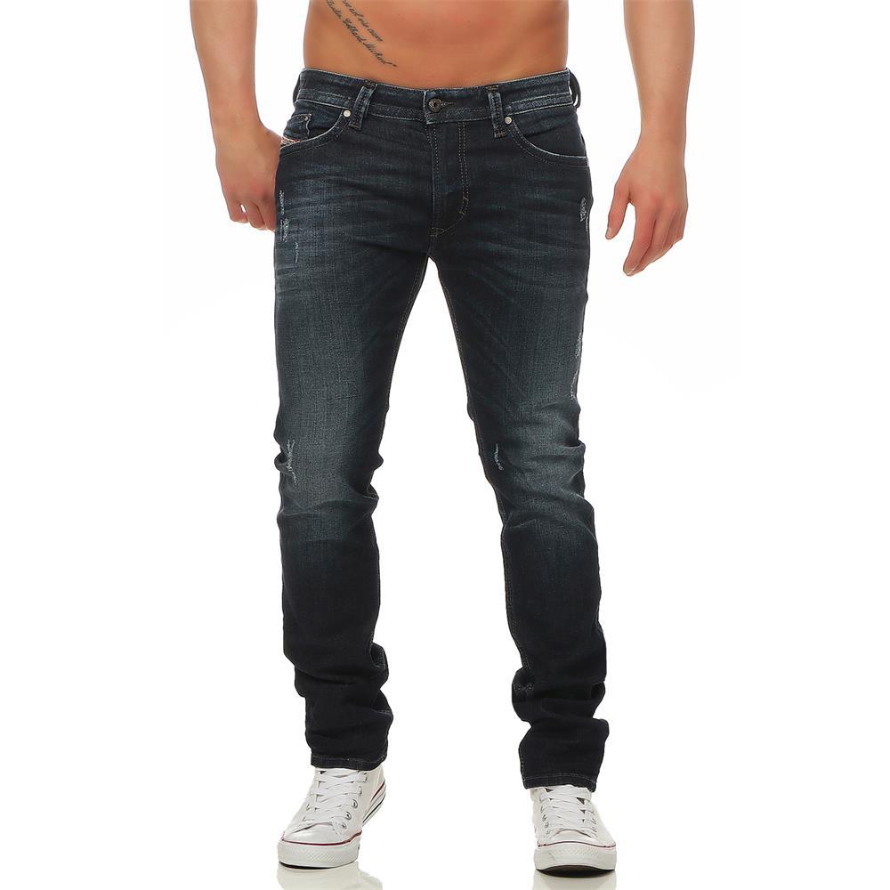 DIESEL-Thavar-0842R-Jeans-Regular-Slim-Skinny-Herrenjeans-Denim-Hose