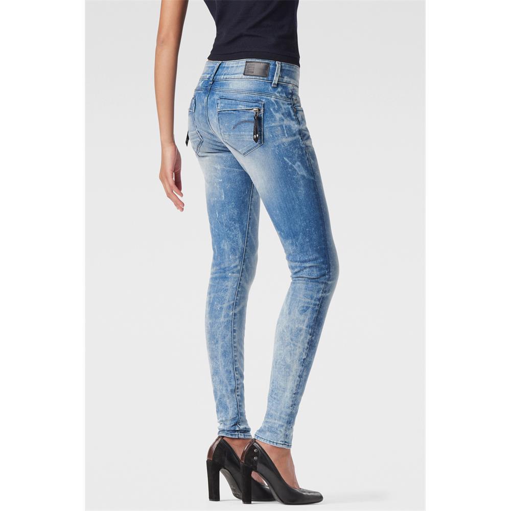 miniatuur 10 - G-Star Midge Cody Mid Waist Skinny Damen Jeans Hose Jeanshose Röhrenjeans