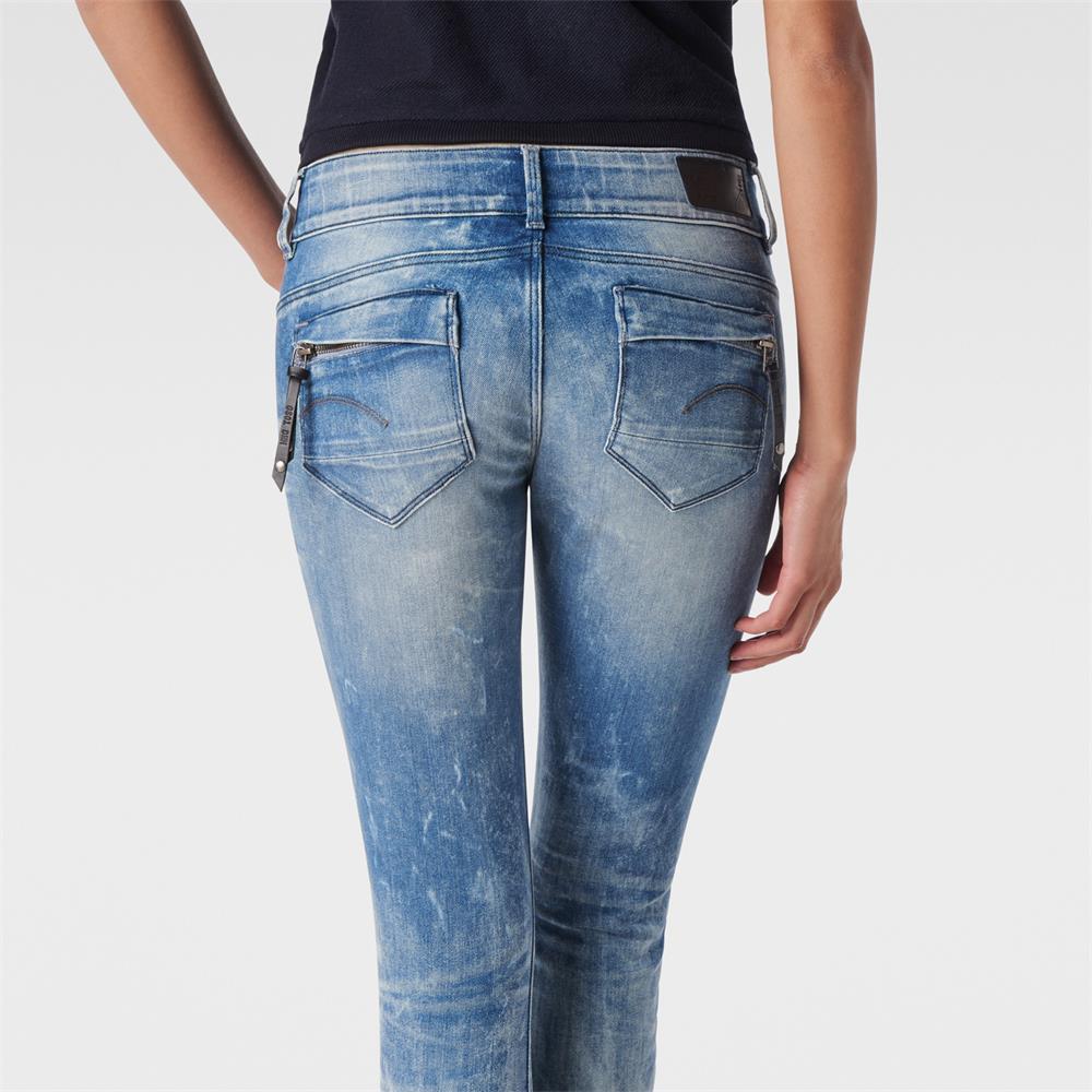 miniatuur 11 - G-Star Midge Cody Mid Waist Skinny Damen Jeans Hose Jeanshose Röhrenjeans
