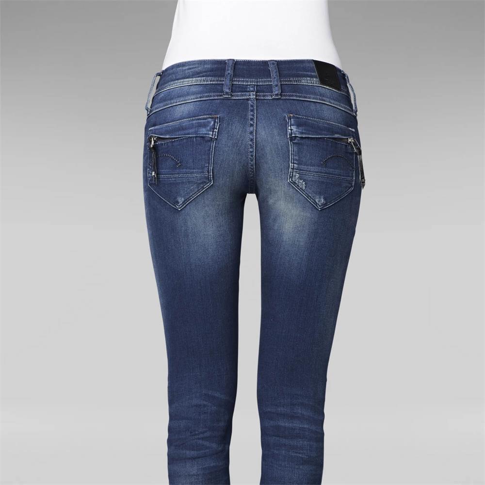 miniatuur 8 - G-Star Midge Cody Mid Waist Skinny Damen Jeans Hose Jeanshose Röhrenjeans
