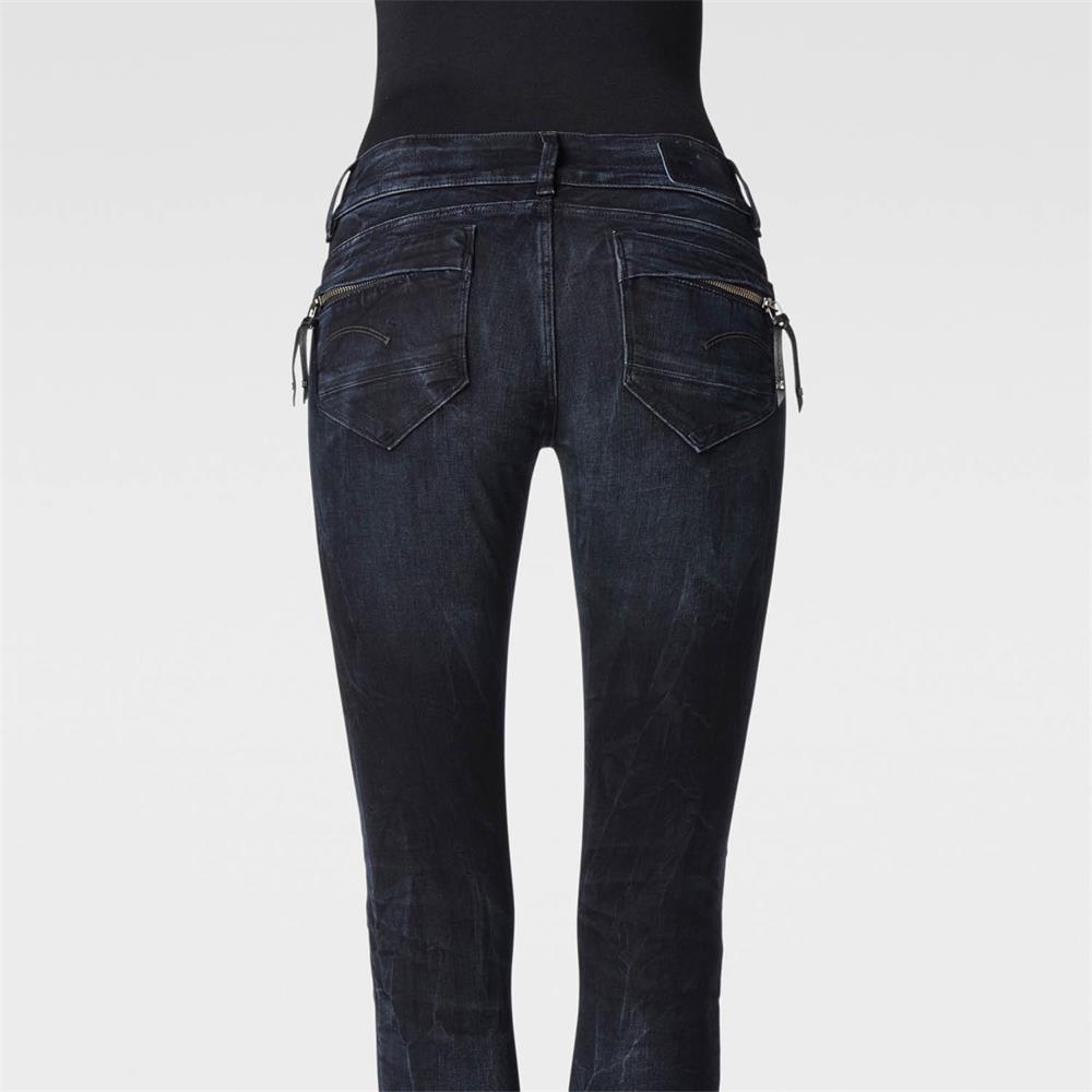 miniatuur 4 - G-Star Midge Cody Mid Waist Skinny Damen Jeans Hose Jeanshose Röhrenjeans