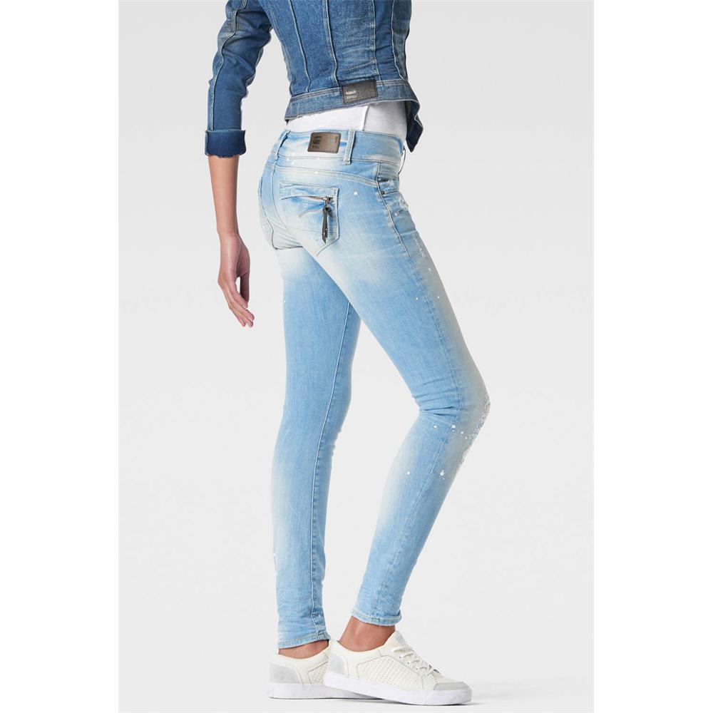 miniatuur 17 - G-Star Midge Cody Mid Waist Skinny Damen Jeans Hose Jeanshose Röhrenjeans