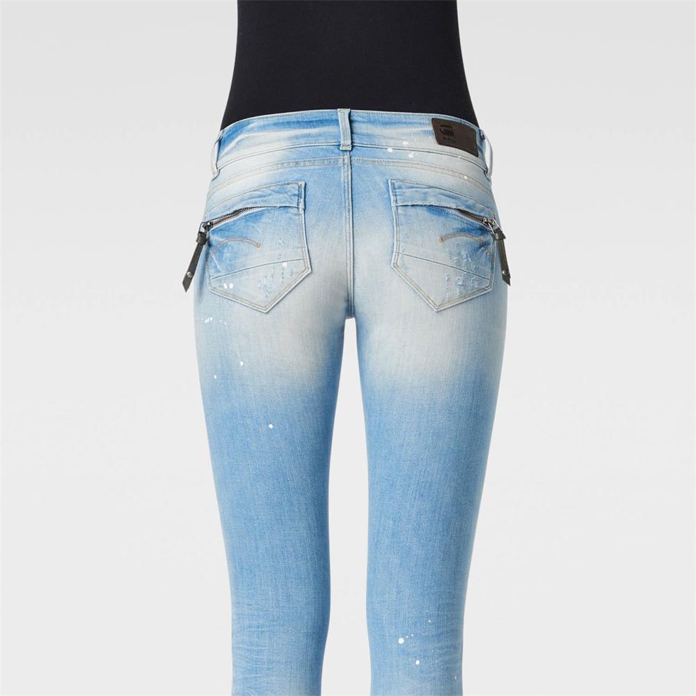 miniatuur 18 - G-Star Midge Cody Mid Waist Skinny Damen Jeans Hose Jeanshose Röhrenjeans