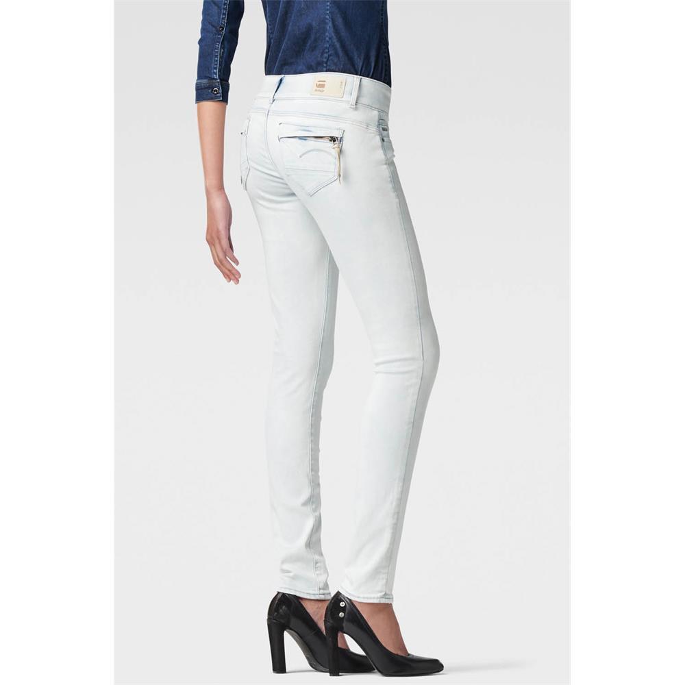 miniatuur 22 - G-Star Midge Cody Mid Waist Skinny Damen Jeans Hose Jeanshose Röhrenjeans