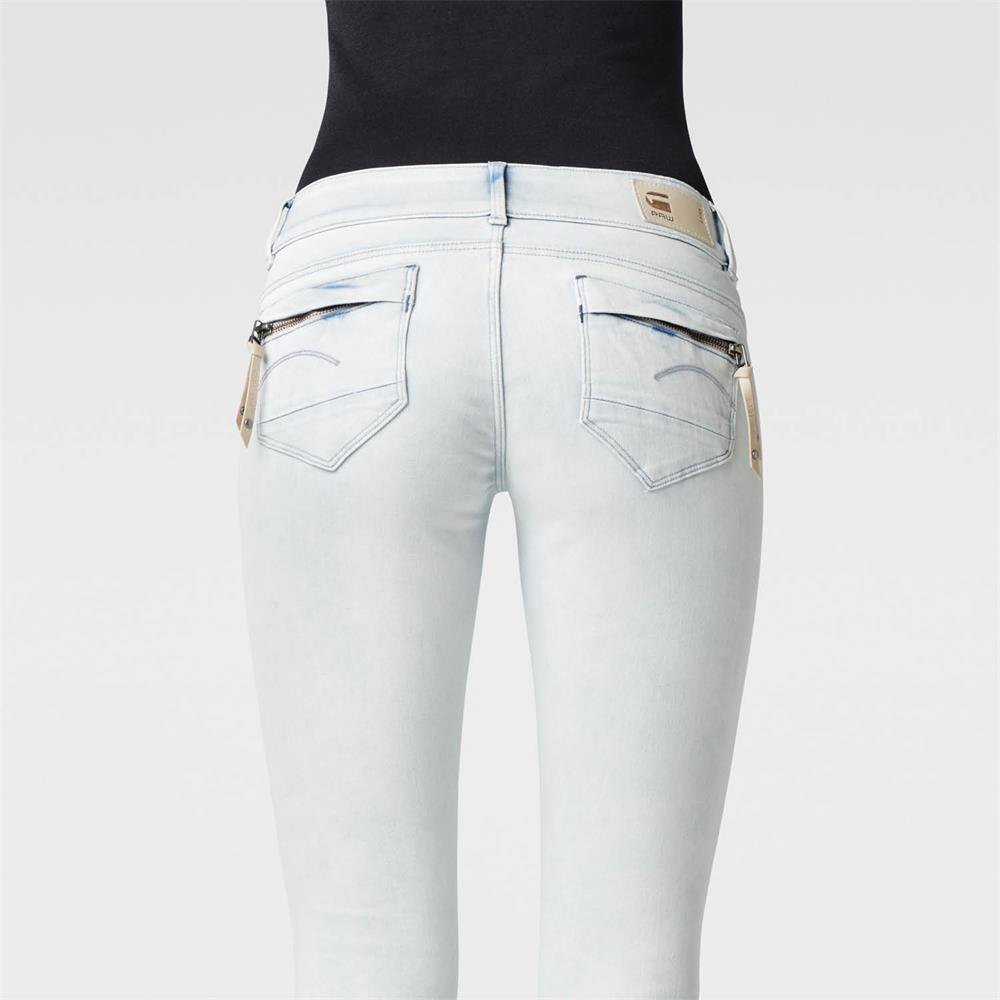miniatuur 23 - G-Star Midge Cody Mid Waist Skinny Damen Jeans Hose Jeanshose Röhrenjeans