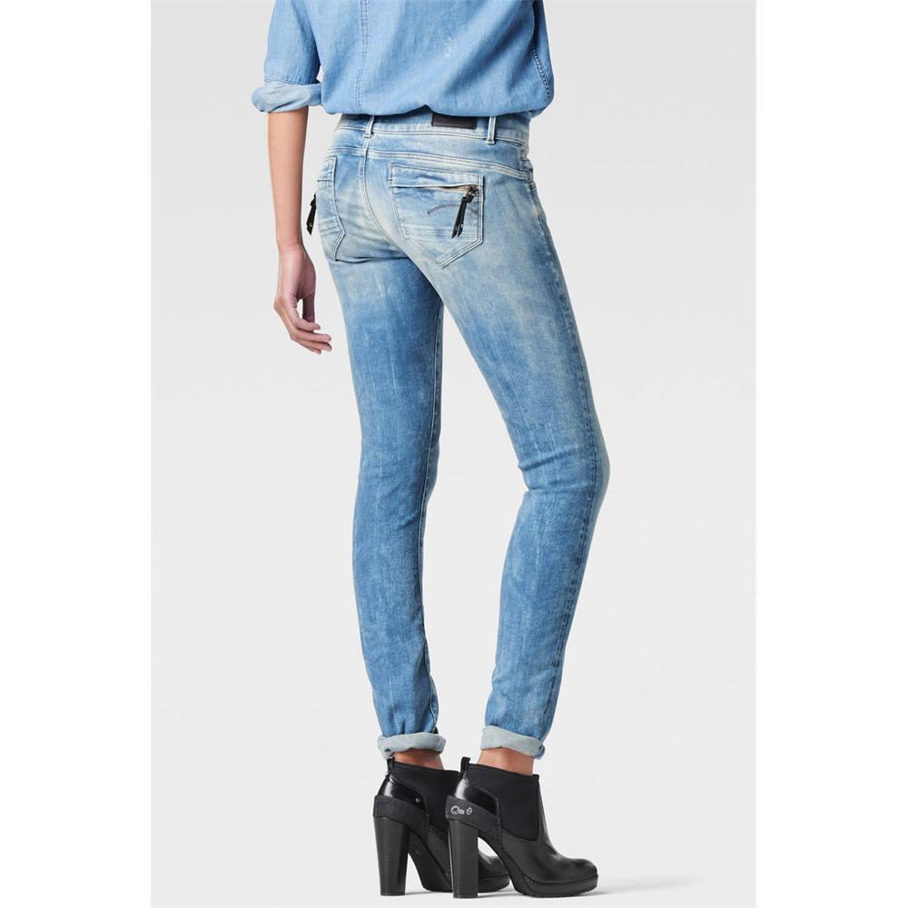 miniatuur 13 - G-Star Midge Cody Mid Waist Skinny Damen Jeans Hose Jeanshose Röhrenjeans