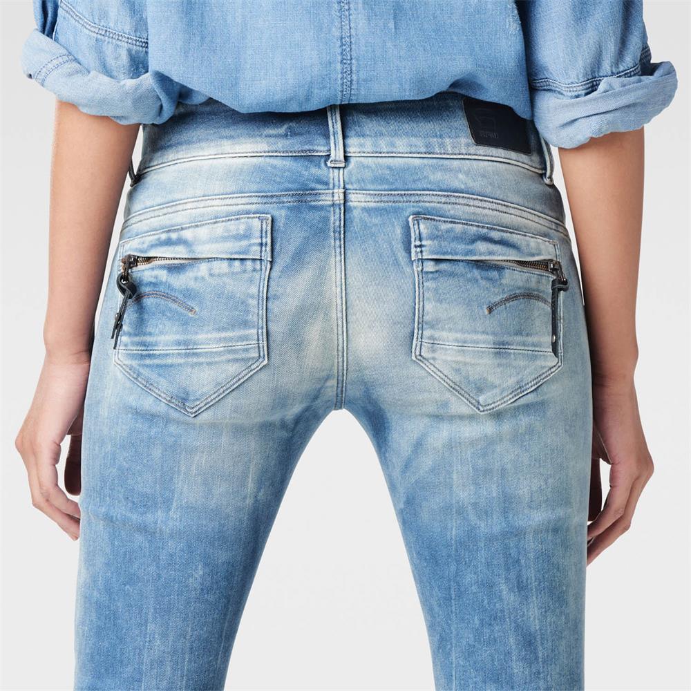 miniatuur 14 - G-Star Midge Cody Mid Waist Skinny Damen Jeans Hose Jeanshose Röhrenjeans