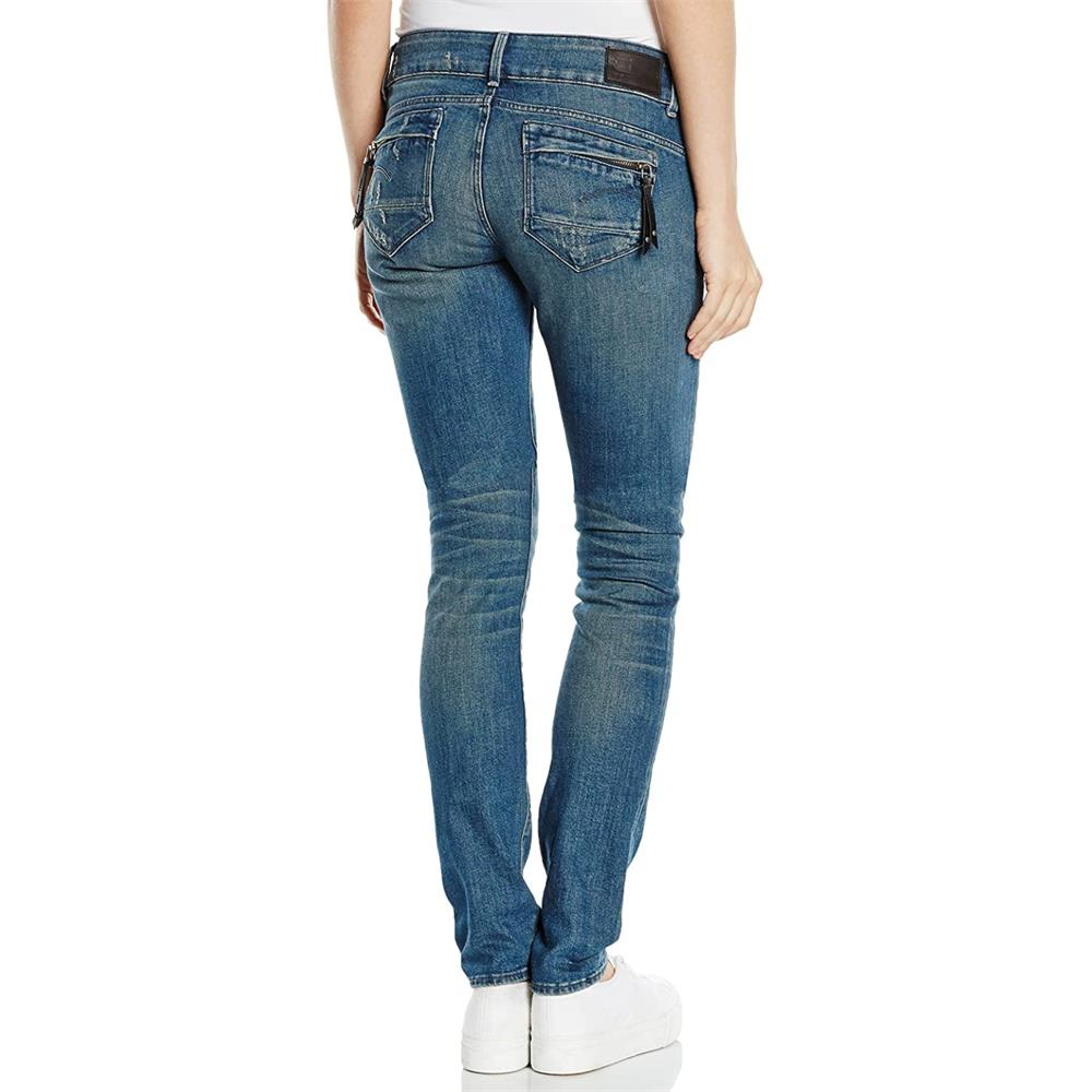 miniatuur 20 - G-Star Midge Cody Mid Waist Skinny Damen Jeans Hose Jeanshose Röhrenjeans