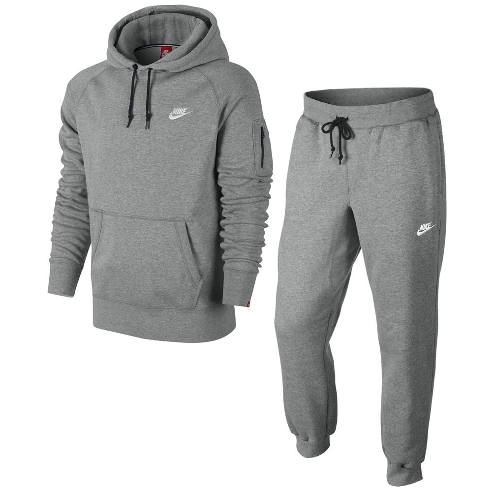 nike aw77 fleece herren trainingsanzug hoodie jogginghose anzug 2 teilig ebay. Black Bedroom Furniture Sets. Home Design Ideas