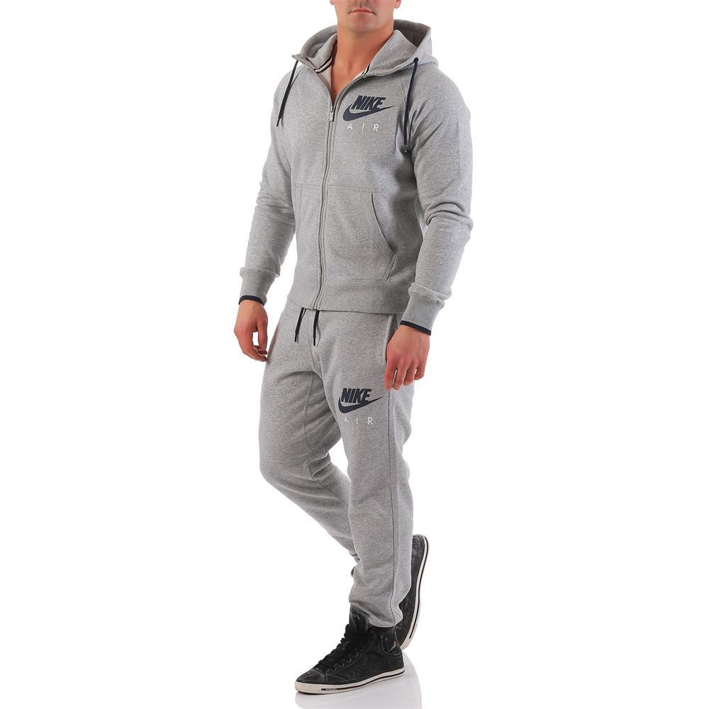 Nike Air Trainingsanzug Herren grau Jogginganzug Anzug Sport L