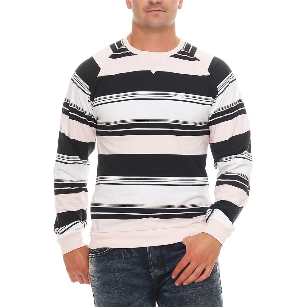 Nike-Fusion-Yarn-Dyed-Striped-Crew-Neck-Sweatshirt-Crewneck-Pullover-Pulli