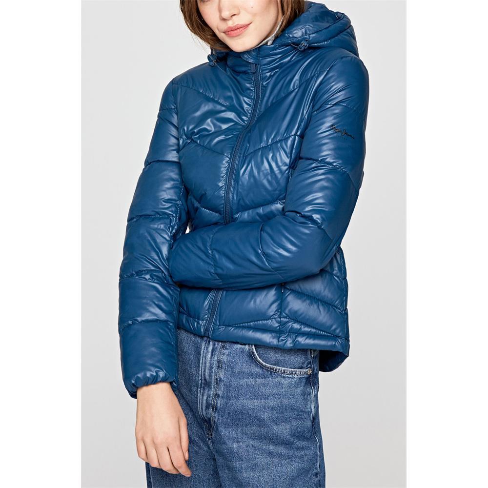 miniatura 3 - Pepe-Jeans-Imani-Damen-Jacke-Winterjacke-Kapuzenjacke-Steppjacke