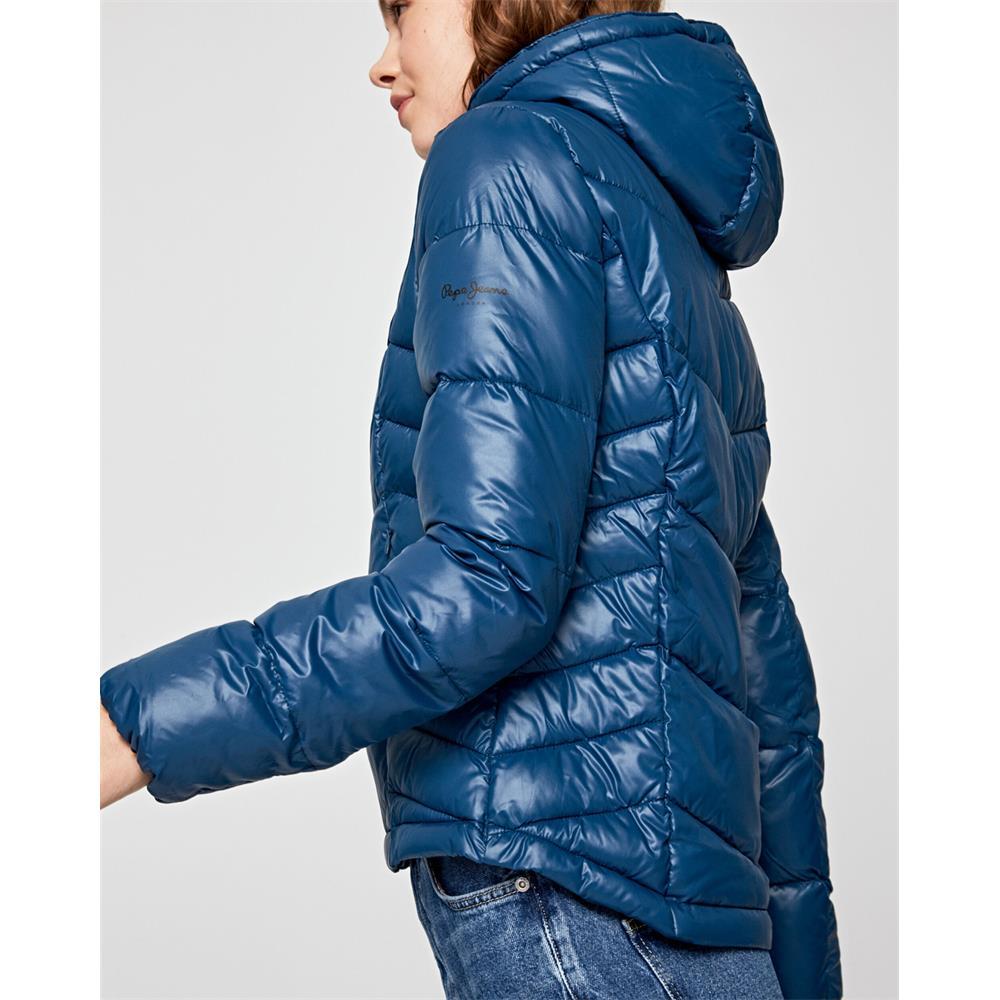 miniatura 4 - Pepe-Jeans-Imani-Damen-Jacke-Winterjacke-Kapuzenjacke-Steppjacke