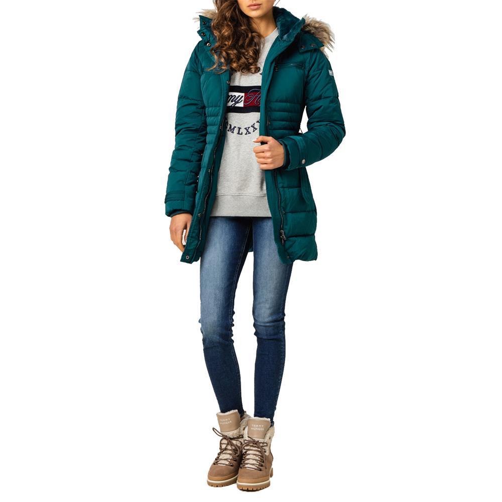 miniatura 19 - Pepe-Jeans-Lynn-Damen-Parka-Jacke-Winterjacke-Kapuzenjacke-Steppjacke-Mantel