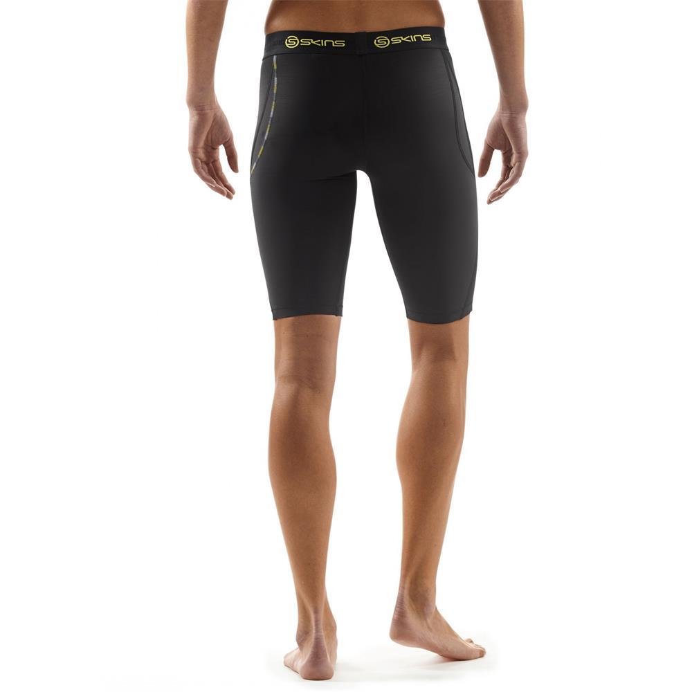 skins dnamic compression half tights damen trainingshose hose sporthose shorts ebay. Black Bedroom Furniture Sets. Home Design Ideas