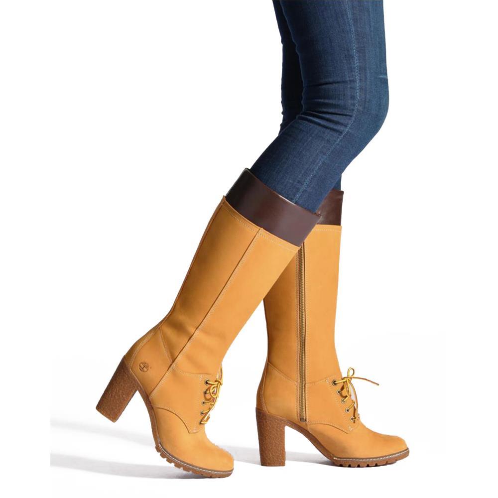 Timberland-Glancy-Tall-Lace-14-034-Inch-botas-de-piel-para-mujer