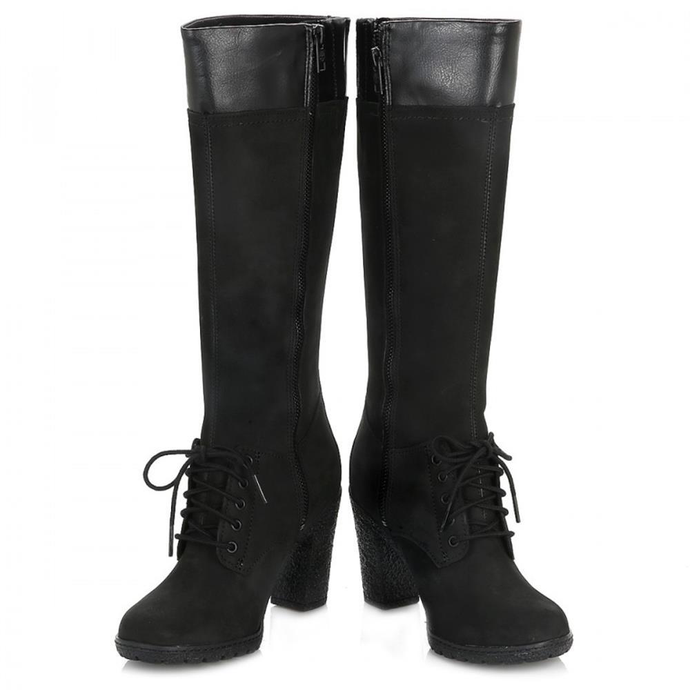 Autorización original Timberland Mujeres Negro Glancy Tall Lace with Zip Botas-UK 7 Footlocker en línea L2dpP