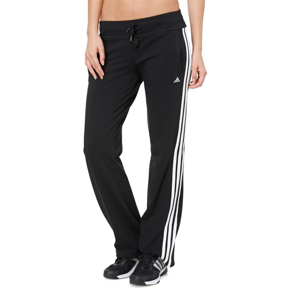 adidas ess 3s knit damen hose essentials sporthose jogginghose trainingshose ebay. Black Bedroom Furniture Sets. Home Design Ideas
