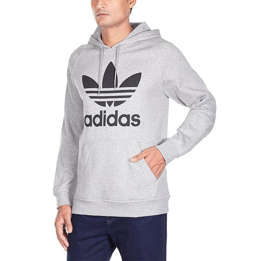 Adidas Originals Adi Trefoil Hoody Jumper Sweatshirt Hoody Grey S XL