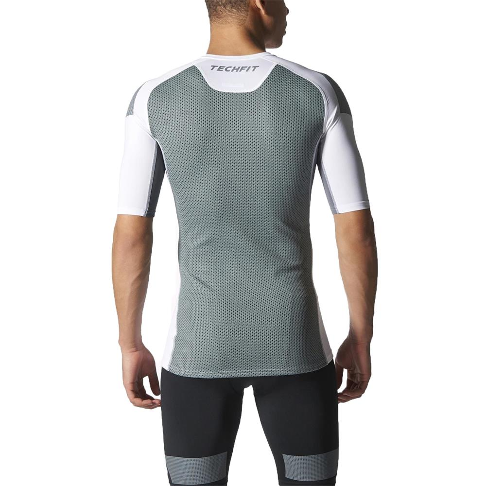 adidas-TechFit-Cool-Kurzarm-T-Shirt-Funktionsshirt-Sportshirt-Kompressionsshirt
