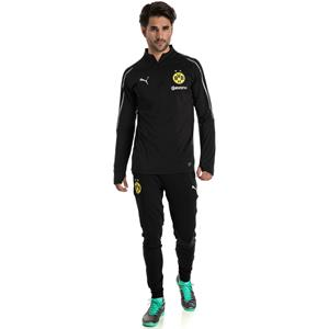 Puma BVB Dortmund Herren 1/4 Zip Training Langarm Top