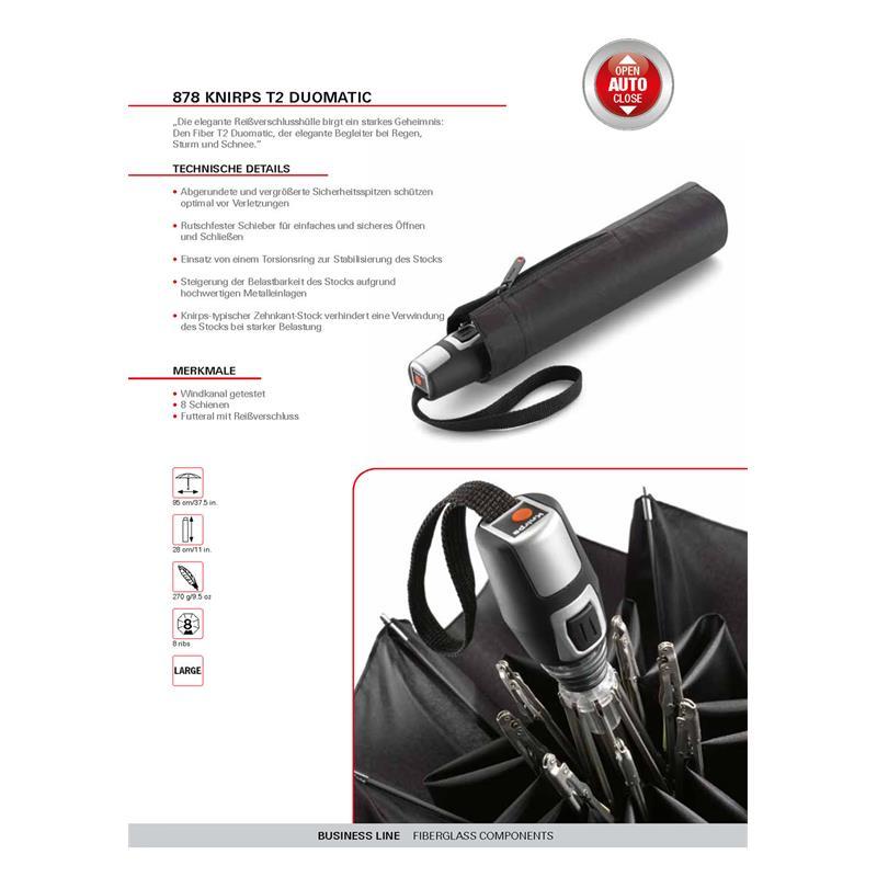 Knirps Fiber T2 Duomatic Regenschirm Taschenschirm