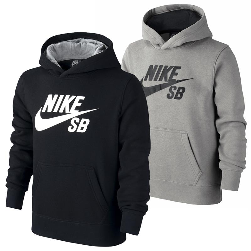 nike sb logo fleece kinder hoodie jungen sweatshirt. Black Bedroom Furniture Sets. Home Design Ideas