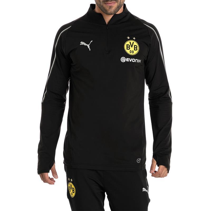 Puma BVB Dortmund Herren 1/4 Zip Training Langarm Top