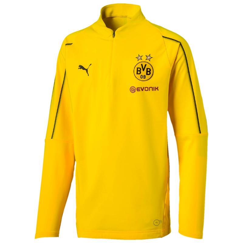 Puma BVB Dortmund Kinder 1/4 Zip Training Langarm Top
