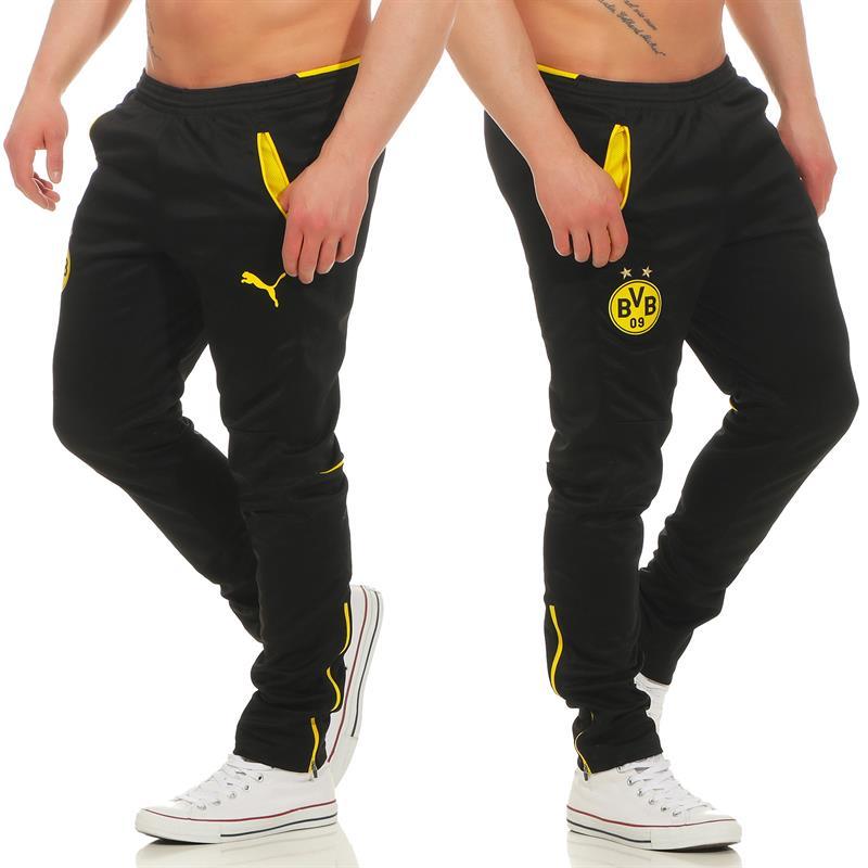 Details about Puma BVB Borussia Dortmund Mens Pants Training Pants Jogging Pants Sports Trousers show original title